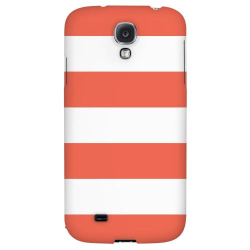 Big Red - Geeks Designer Line Stripe Series Hard Back Case for Samsung Galaxy S4