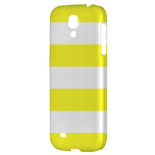 Big Yellow - Geeks Designer Line Stripe Series Hard Back Case for Samsung Galaxy S4
