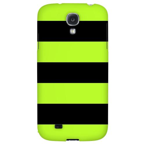 Colorway Black/ Flo Green - Geeks Designer Line Stripe Series Hard Back Case for Samsung Galaxy S4