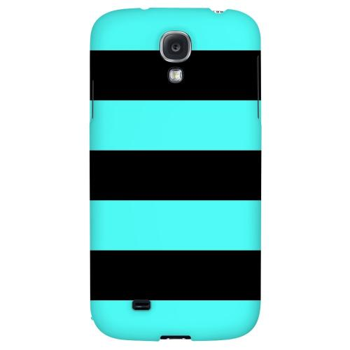 Colorway Black/ Teal - Geeks Designer Line Stripe Series Hard Back Case for Samsung Galaxy S4