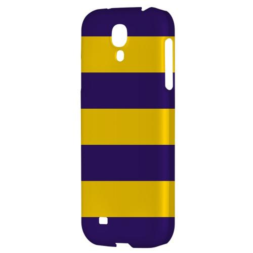 Colorway Purple/ Gold - Geeks Designer Line Stripe Series Hard Back Case for Samsung Galaxy S4
