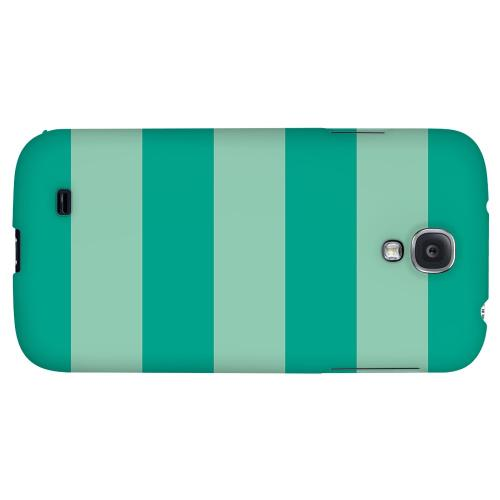 Emerald Grayed Jade - Geeks Designer Line Stripe Series Hard Back Case for Samsung Galaxy S4