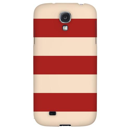 Linen Poppy Red - Geeks Designer Line Stripe Series Hard Back Case for Samsung Galaxy S4