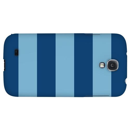 Monaco Blue/ Dusk Blue - Geeks Designer Line Stripe Series Hard Back Case for Samsung Galaxy S4