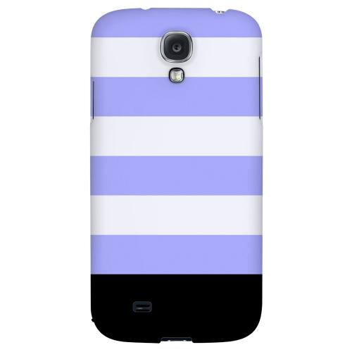 Purple Candy Stripes w/ Black Bar - Geeks Designer Line Stripe Series Hard Back Case for Samsung Galaxy S4