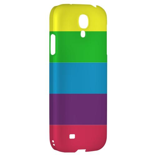 Rainbow Candy Stripes - Geeks Designer Line Stripe Series Hard Back Case for Samsung Galaxy S4