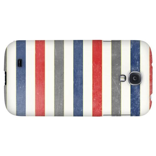 Stripey Blue/ Red - Geeks Designer Line Stripe Series Hard Back Case for Samsung Galaxy S4