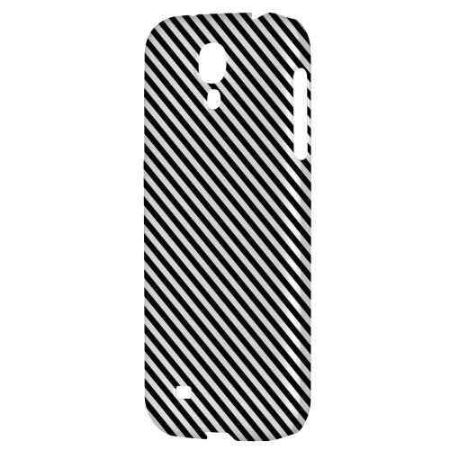 Thin Black/ White Diagonal - Geeks Designer Line Stripe Series Hard Back Case for Samsung Galaxy S4