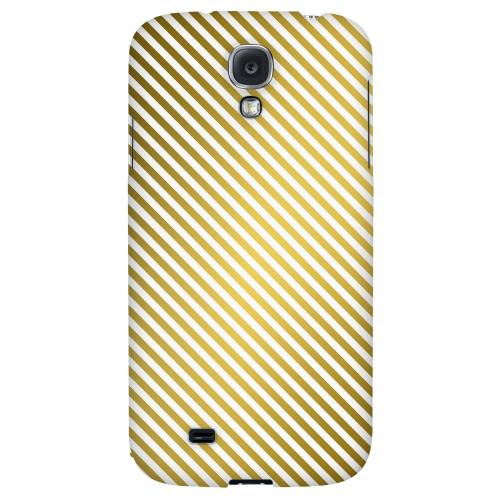 Thin Golden Diagonal - Geeks Designer Line Stripe Series Hard Back Case for Samsung Galaxy S4
