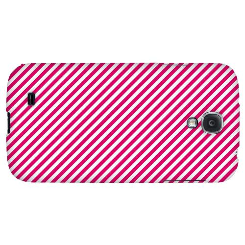 Thin Hot Pink Diagonal - Geeks Designer Line Stripe Series Hard Back Case for Samsung Galaxy S4