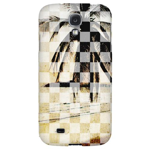 Palm Tree - Geeks Designer Line Checker Series Hard Back Case for Samsung Galaxy S4
