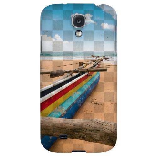 Beach Bum - Geeks Designer Line Checker Series Hard Back Case for Samsung Galaxy S4