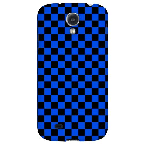 Blue/ Black - Geeks Designer Line Checker Series Hard Back Case for Samsung Galaxy S4