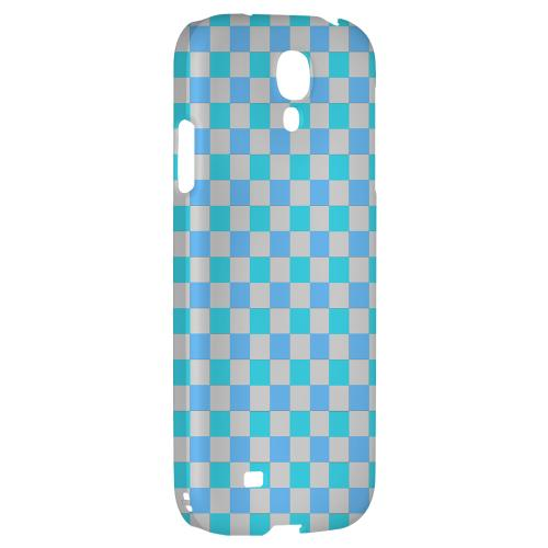 Blue Electric - Geeks Designer Line Checker Series Hard Back Case for Samsung Galaxy S4