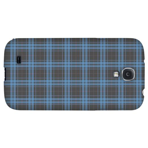 Blue/ Gray/ Pink Plaid - Geeks Designer Thin Line Plaid Checker Series Hard Back Case for Samsung Galaxy S4