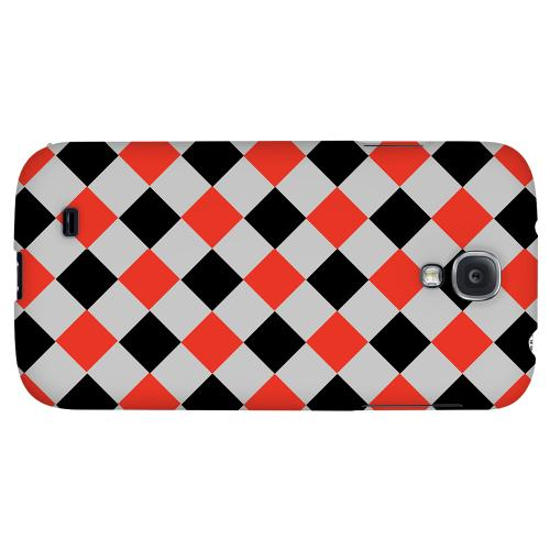 Charlatan on Gray - Geeks Designer Line Checker Series Hard Back Case for Samsung Galaxy S4