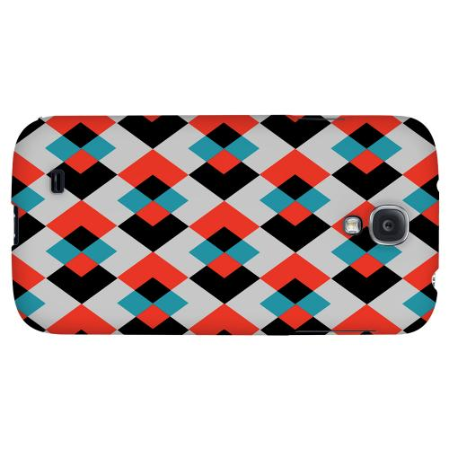 Double Diamond Vision - Geeks Designer Line Checker Series Hard Back Case for Samsung Galaxy S4