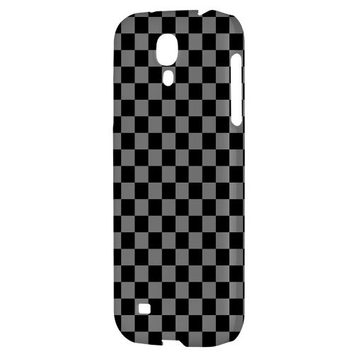 Gray/ Black - Geeks Designer Line Checker Series Hard Back Case for Samsung Galaxy S4