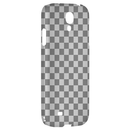 Gray/ Light Gray - Geeks Designer Line Checker Series Hard Back Case for Samsung Galaxy S4