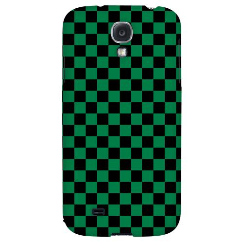 Green/ Black - Geeks Designer Line Checker Series Hard Back Case for Samsung Galaxy S4