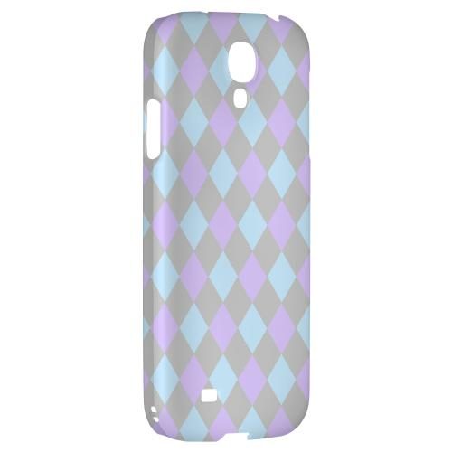 Gray/ Blue/ Purple Argyle - Geeks Designer Line Checker Series Hard Back Case for Samsung Galaxy S4