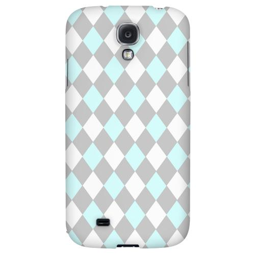 Pink/ Blue/ Gray Argyle - Geeks Designer Line Checker Series Hard Back Case for Samsung Galaxy S4