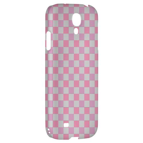 Pinkish - Geeks Designer Line Checker Series Hard Back Case for Samsung Galaxy S4