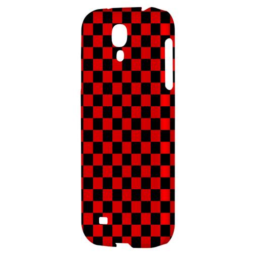 Red/ Black - Geeks Designer Line Checker Series Hard Back Case for Samsung Galaxy S4