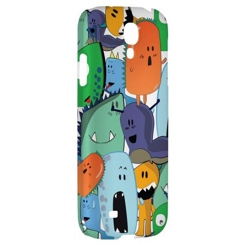 ZORGBLATS Gang on White - Geeks Designer Line Monster Mash Series Hard Back Case for Samsung Galaxy S4