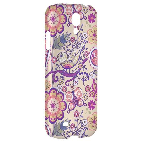 Birds, Hearts & Flowers - Geeks Designer Line Floral Series Hard Back Case for Samsung Galaxy S4