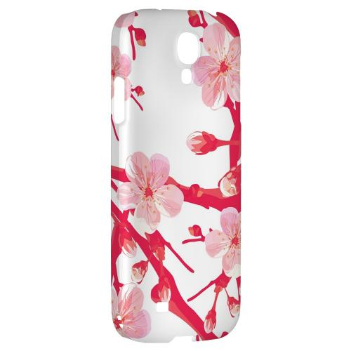 Hot Pink Cherry Blossom - Geeks Designer Line Floral Series Hard Back Case for Samsung Galaxy S4