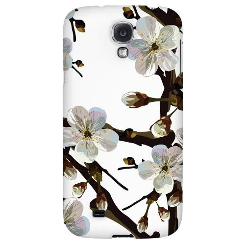 White Cherry Blossom - Geeks Designer Line Floral Series Hard Back Case for Samsung Galaxy S4