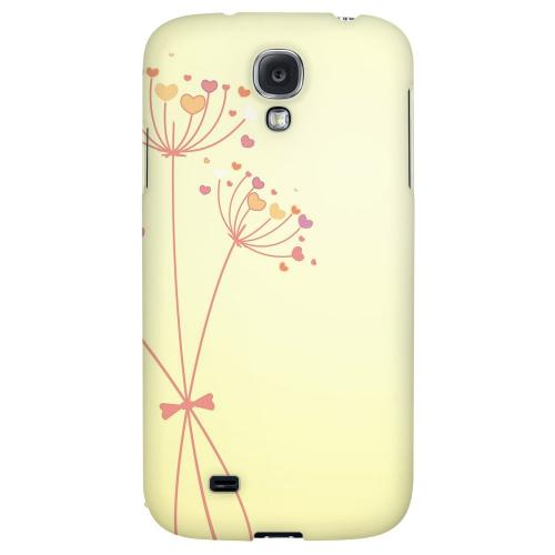 Dandelion Hearts on Yellow - Geeks Designer Line Floral Series Hard Back Case for Samsung Galaxy S4