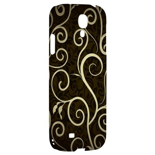 Elegant Dark Vines - Geeks Designer Line Floral Series Hard Back Case for Samsung Galaxy S4