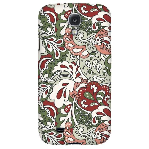Green/ Red/ Pink Paisley - Geeks Designer Line Floral Series Hard Back Case for Samsung Galaxy S4