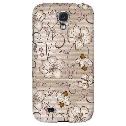 Floral Stripes Linen - Geeks Designer Line Floral Series Hard Back Case for Samsung Galaxy S4