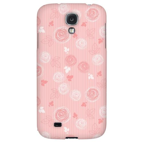 Leaves Scribble Pinkish - Geeks Designer Line Floral Series Hard Back Case for Samsung Galaxy S4