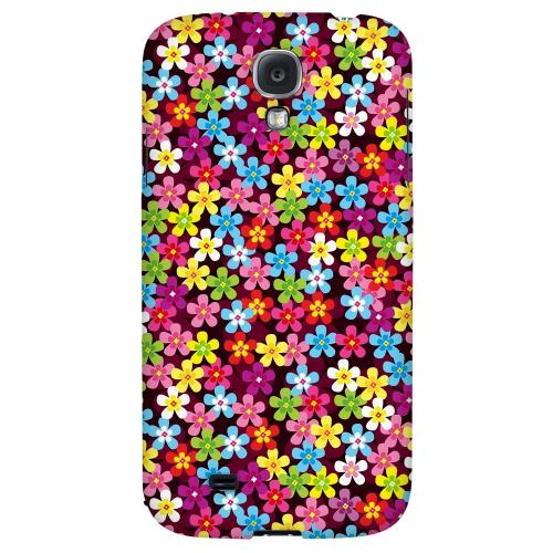 Multi-Colored Flowers - Geeks Designer Line Floral Series Hard Back Case for Samsung Galaxy S4