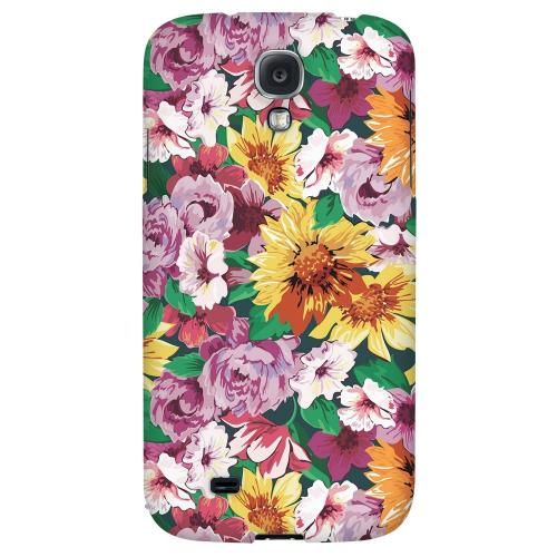 Pink/ Orange Flowers - Geeks Designer Line Floral Series Hard Back Case for Samsung Galaxy S4