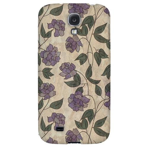 Purple Flowers & Vines Wallpaper - Geeks Designer Line Floral Series Hard Back Case for Samsung Galaxy S4