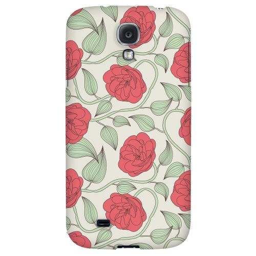 Roses & Vines - Geeks Designer Line Floral Series Hard Back Case for Samsung Galaxy S4