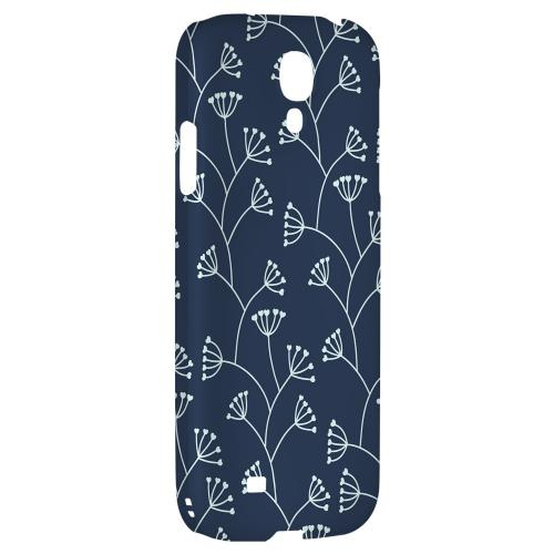 Simple Blue - Geeks Designer Line Floral Series Hard Back Case for Samsung Galaxy S4