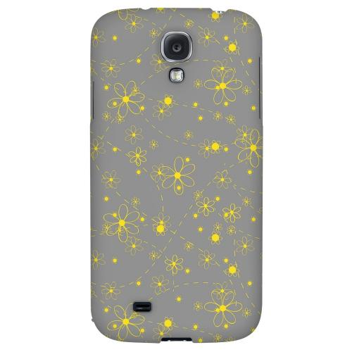 Yellow Daisies on Gray - Geeks Designer Line Floral Series Hard Back Case for Samsung Galaxy S4