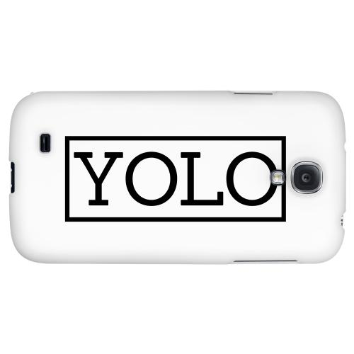 Black/ White YOLO - Geeks Designer Line YOLO Series Hard Back Case for Samsung Galaxy S4