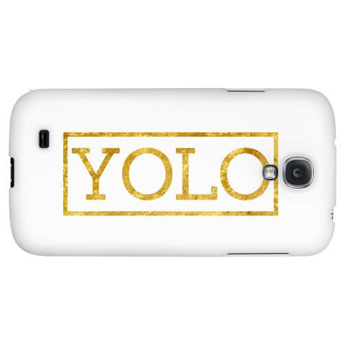 Gold YOLO - Geeks Designer Line YOLO Series Hard Back Case for Samsung Galaxy S4