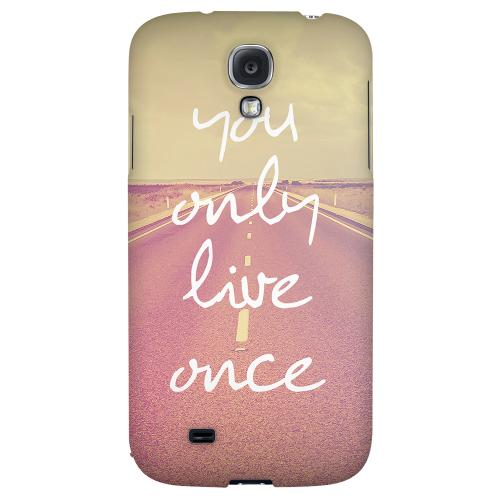Open Road YOLO - Geeks Designer Line YOLO Series Hard Back Case for Samsung Galaxy S4