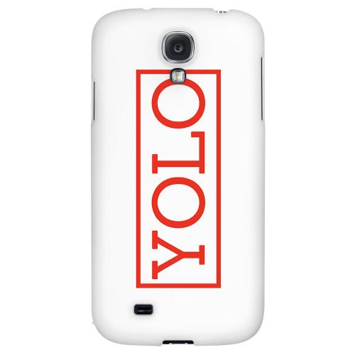 Red YOLO - Geeks Designer Line YOLO Series Hard Back Case for Samsung Galaxy S4