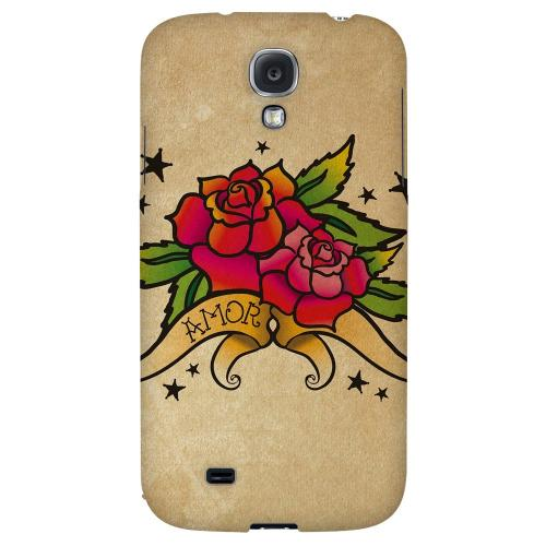 Armor Rose Grunge - Geeks Designer Line Tattoo Series Hard Back Case for Samsung Galaxy S4