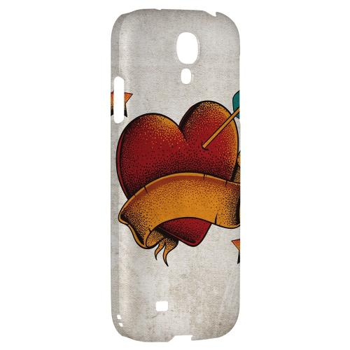 Arrow In The Heart - Geeks Designer Line Tattoo Series Hard Back Case for Samsung Galaxy S4