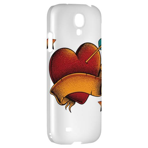 Arrow In The Heart on White - Geeks Designer Line Tattoo Series Hard Back Case for Samsung Galaxy S4